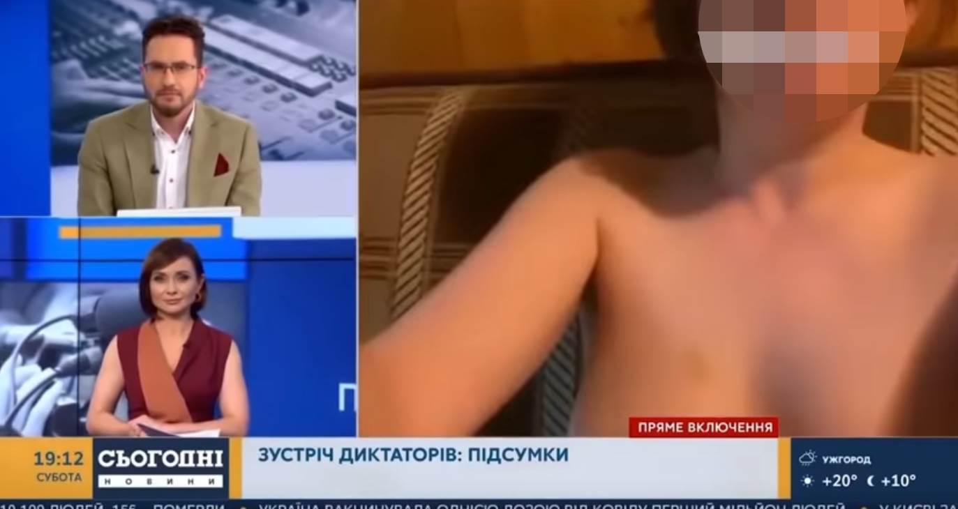 Gola žena u emisiji