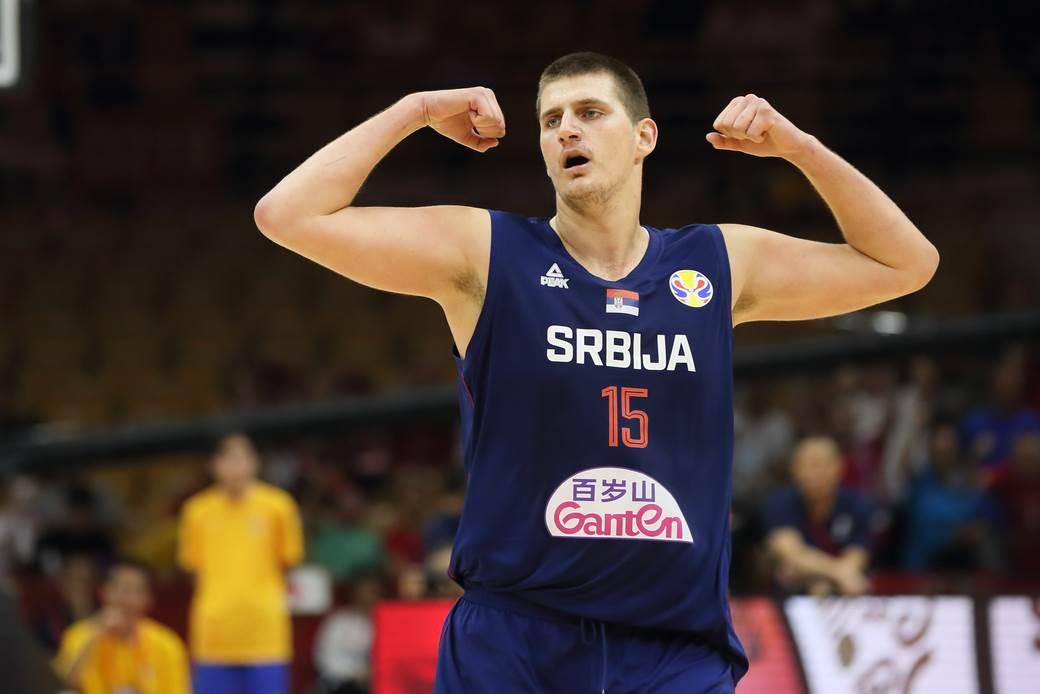 Nikola Jokić u dresu Srbije.
