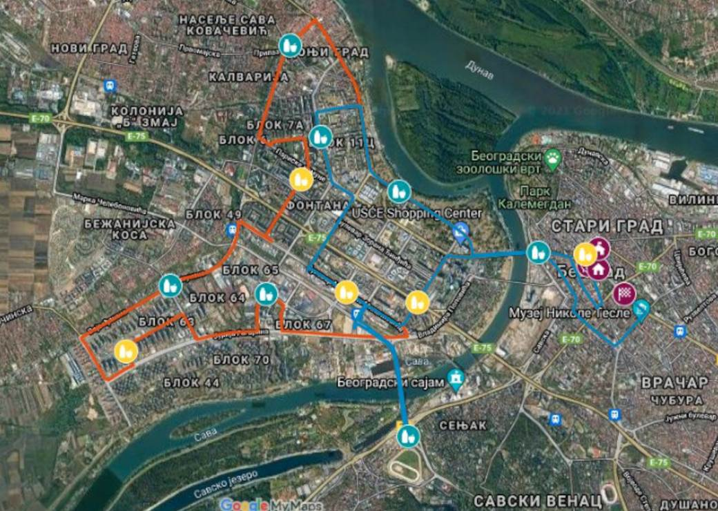 beogradski maraton trasa