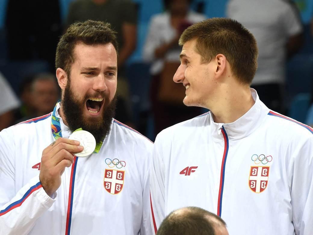 Nikola Jokić i Miroslav Raduljica na OI u Riju.