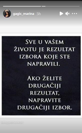 Marina Gagić objava posle raskida