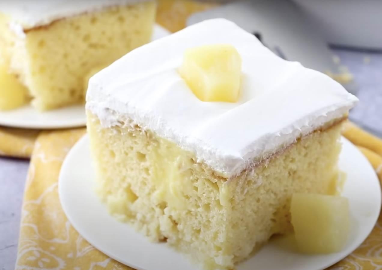 torta sa ananasom i pudingom