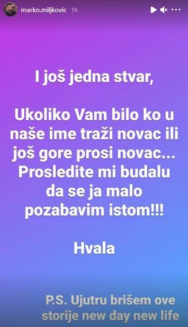 Marko Miljković reakcija na priču da samohrana majka skuplja novac
