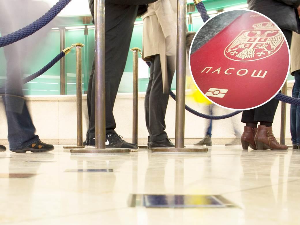 pasoš čekanje u redu
