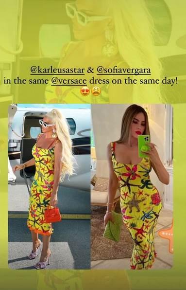 Jelena Karleuša i Sofija Vergara u istim haljinama