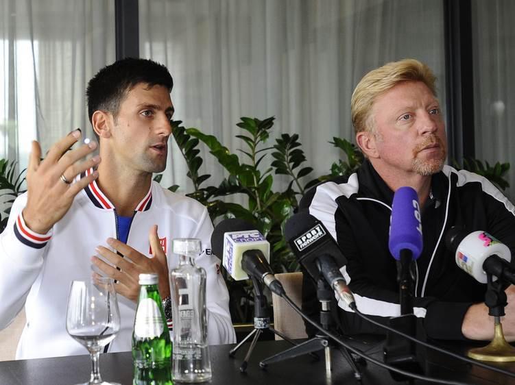 Novak Đoković Boris Beker