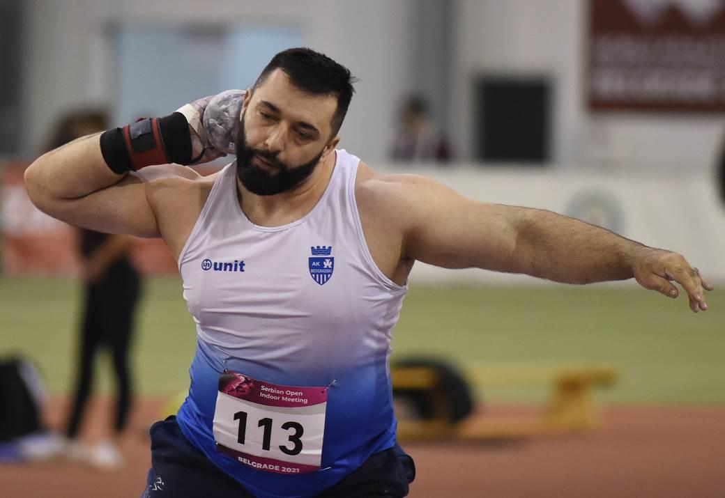Asmir Kolasinac, bacanje kugle, kugla