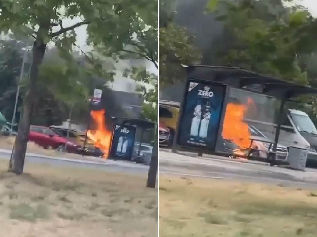 zapaljen auto novi beograd