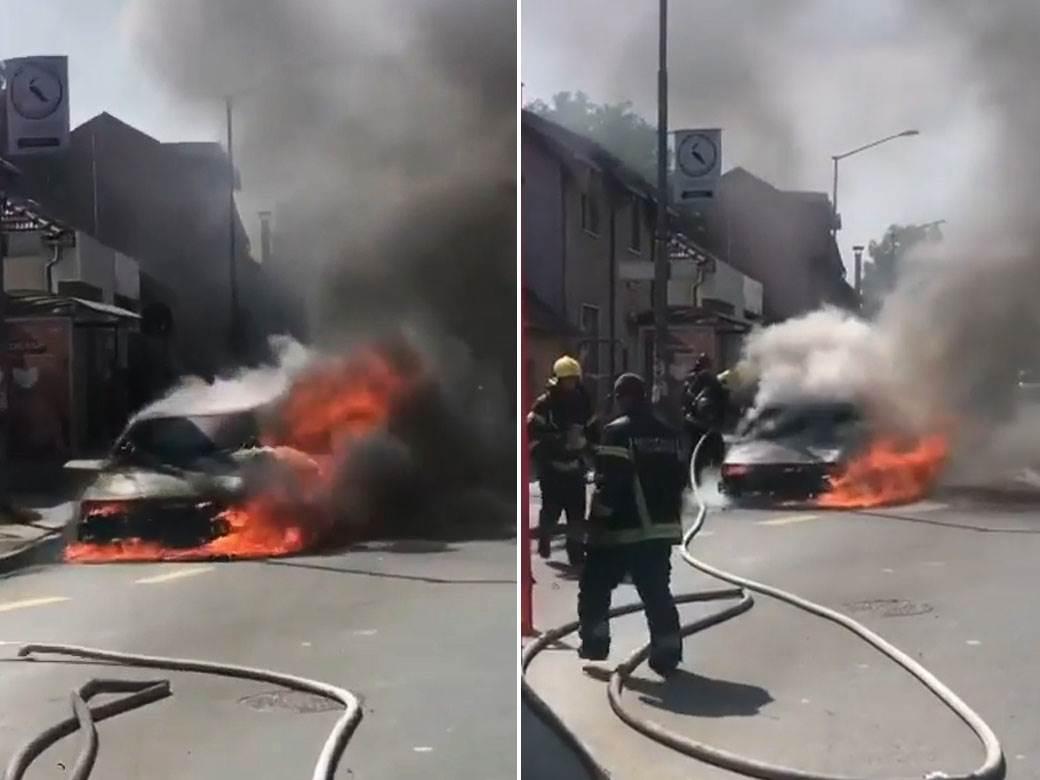 zapaljen auto novi sad