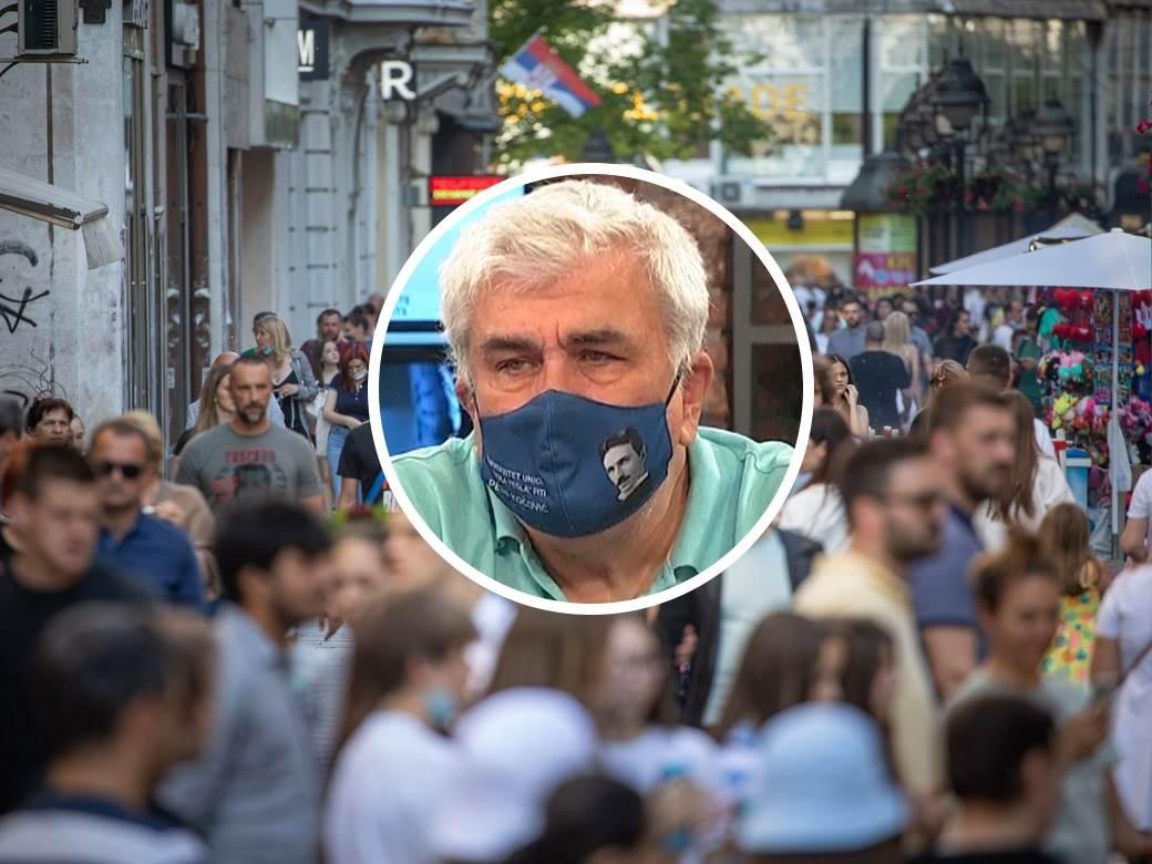 profesor petar kočović i pešaci na ulici