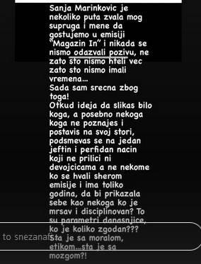 Snežana Borjan isprozivala Sanju Marinković