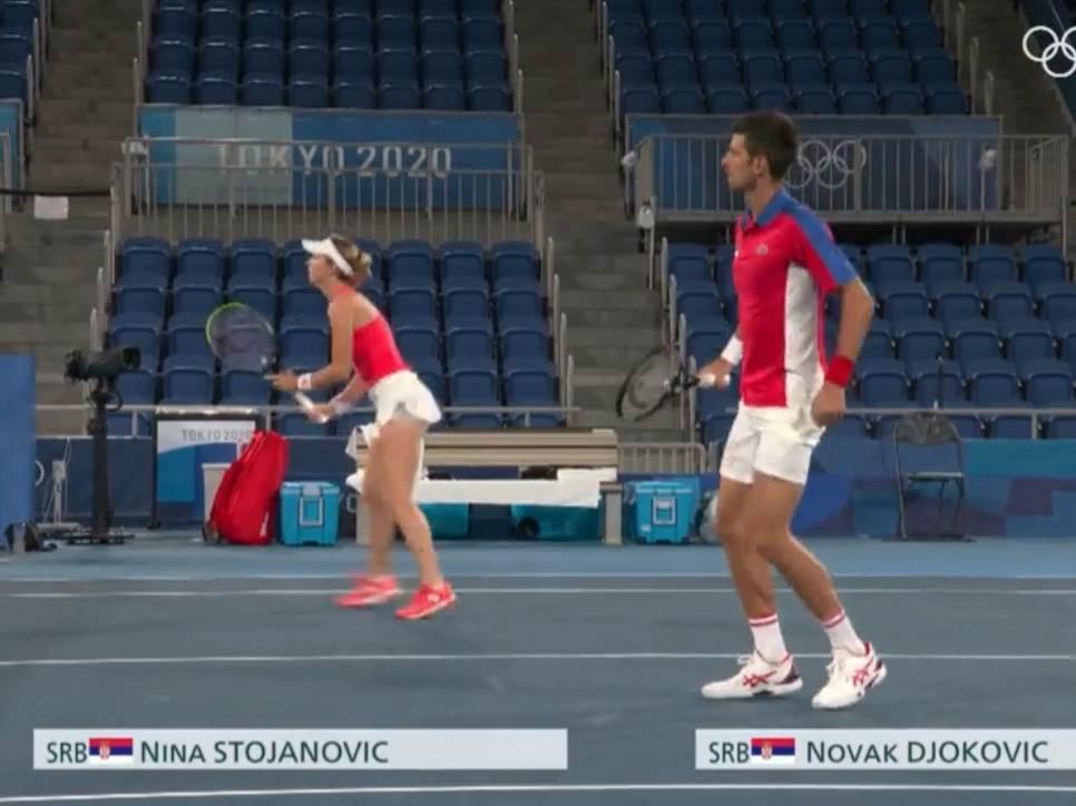 Novak Đoković i Nina Stojanović