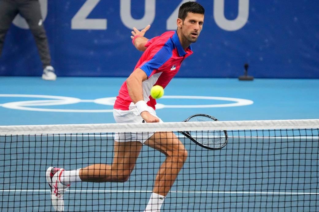 Novak Đoković, Zverev, OI, Tokyo 2020 (1)