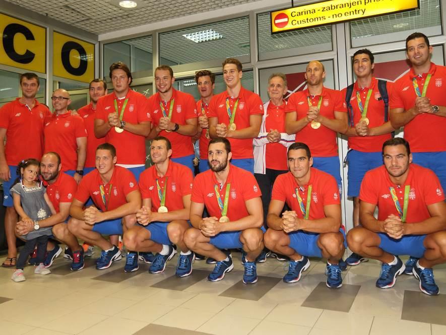 Vaterpolisti Srbije sa zlatom iz Rija