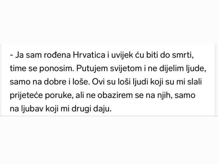 Matea Jelić na Instagramu