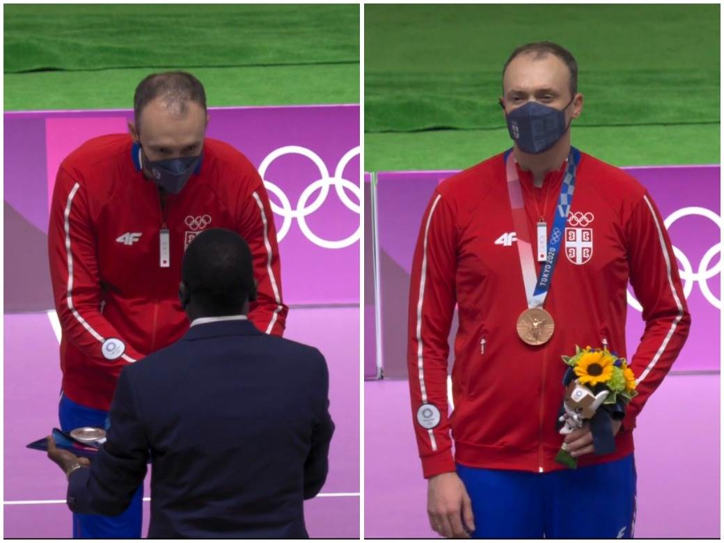Milenko Sebić dobija bronzanu medalju