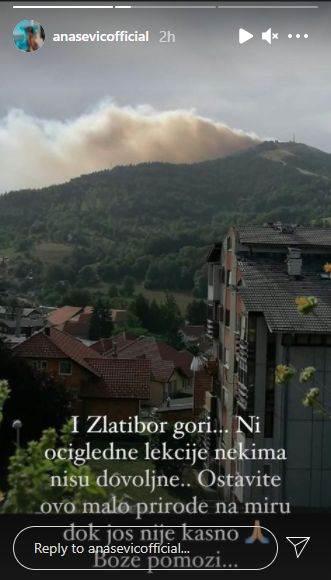 Ana Sević objavila sliku požra na Zlatiboru