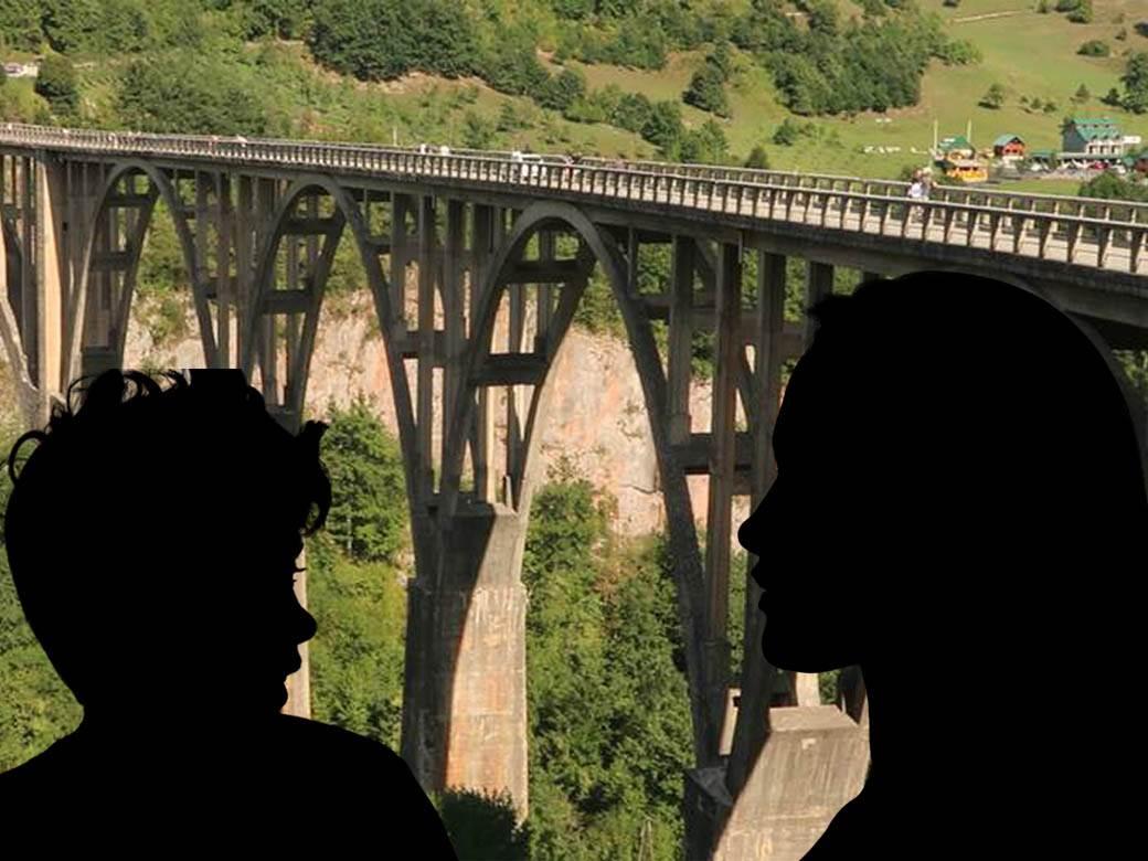 samoubistvo most, dečak i devojka