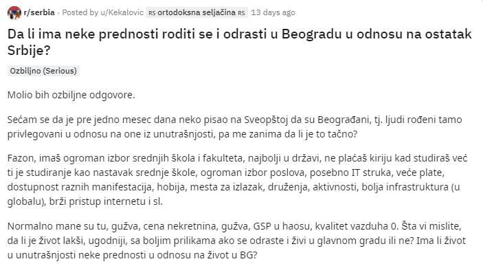 Da li ima prednosti roditi se u Beogradu