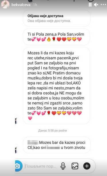Natašu Bekvalac izvređao nepoznati muškarac