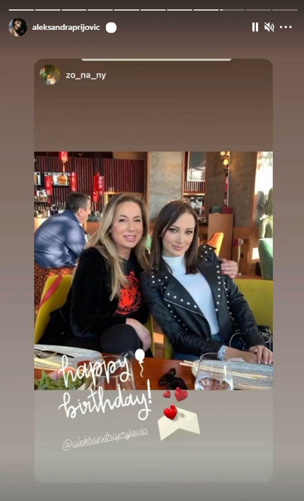 Aleksandra Prijović rođendan čestitala joj Filipova majka