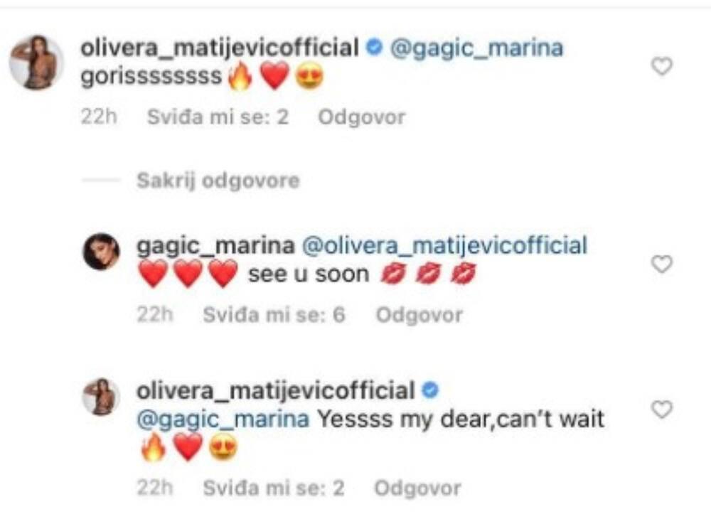Marina Gagić se sprijateljila sa Darkovom bivšom