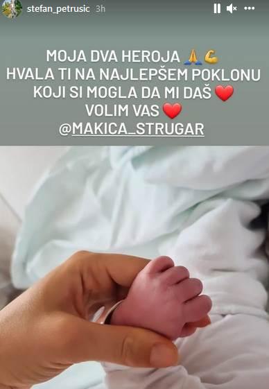 Stefan Petrušić dobio sina