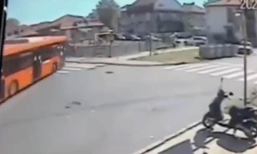 Snimak nesreće u Zemunu