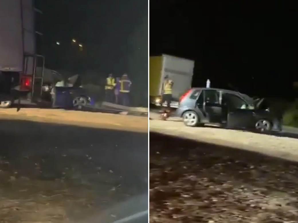 saobraćajna nesreća ulaz Mladenovac