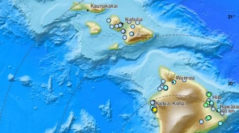 Havaji, zemljotres