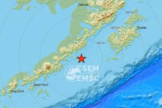 Aljaska, zemljotres