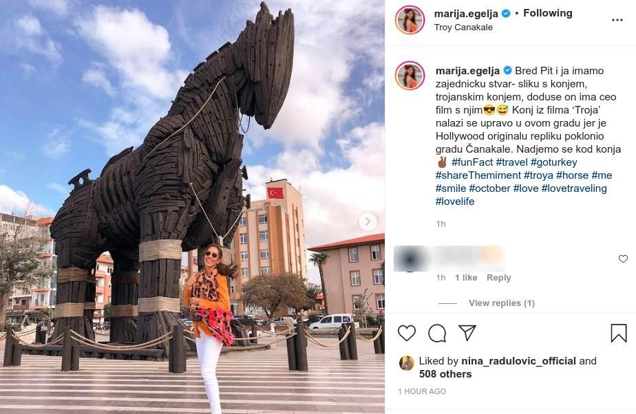 Marija egelja s trojanskim konjem