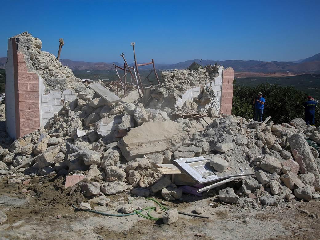 Srušena Crkva na Kritu