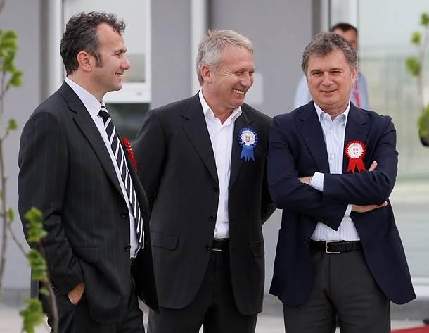 Predsednik FS Crne Gore Dejan Savićević, bivši direktor OFK Beograda Vlada Bulatović i nekadašnji trener Partizana Ljubiša Tumbaković.