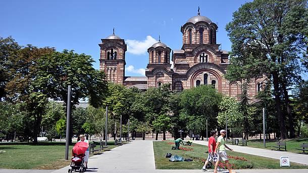 Crkva Svetog Marka, Tašmajdan, Tašmajdanski park, šetnja, parkom