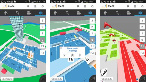 usce mapa Tržni centar Ušće aplikacija | Mondo Portal usce mapa
