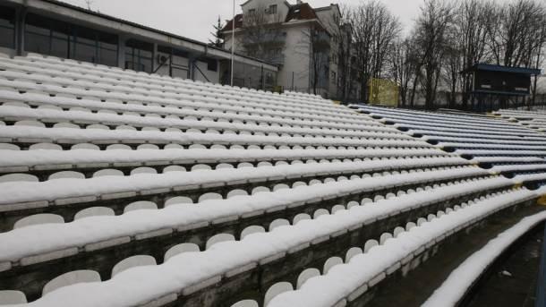 Superliga, sneg, Karaburma, OFK Beograd, Omladinski stadion, tribine