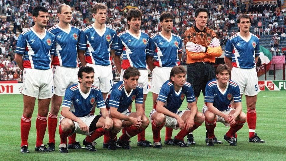 Reprezentacija Jugoslavije na Mundijalu u Italiji, 1990. godine.