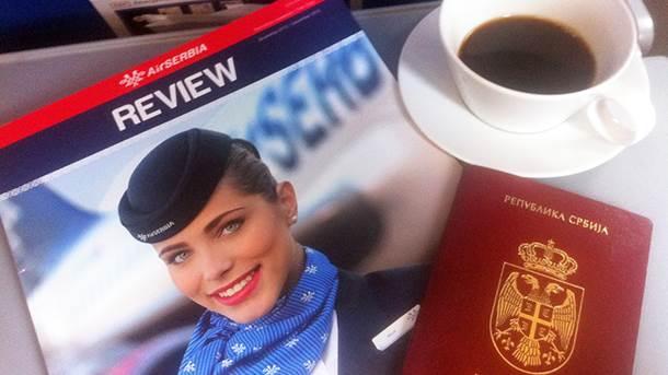 Er Srbija, pasoš