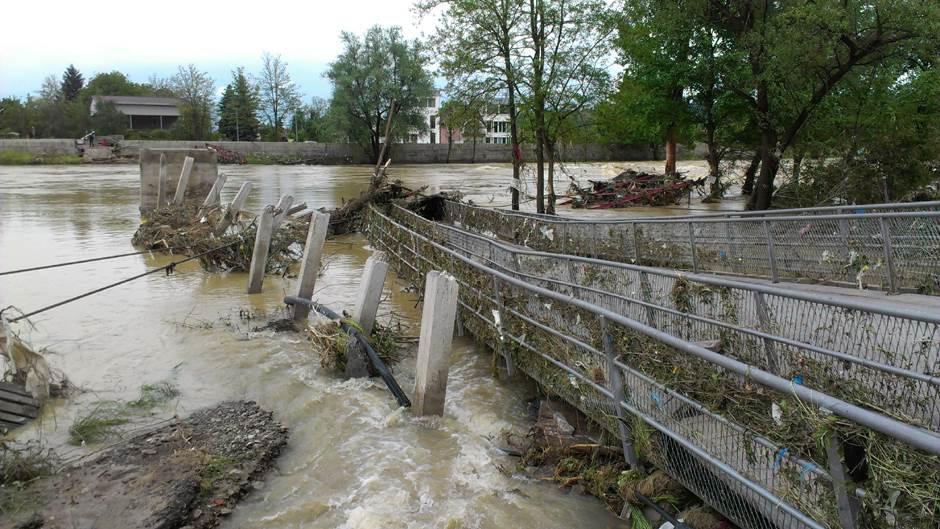 viseći most, Banjaluka, poplava