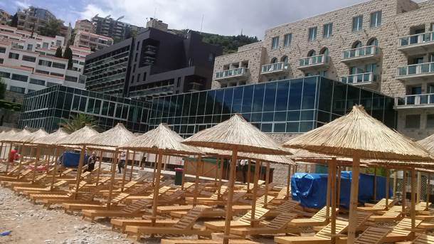 Budva, more, plaža, Crna Gora, hotel