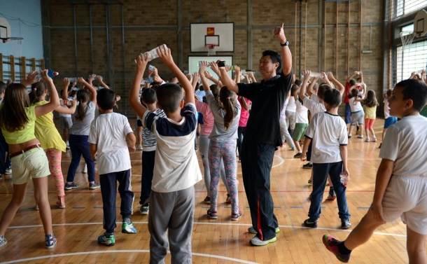 fizičko, vežbe, deca, škola