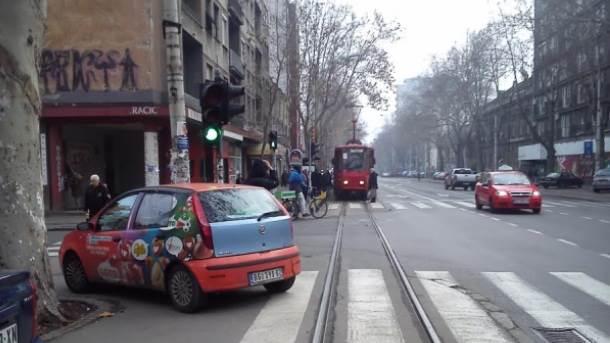 bahati vozač šine tramvaji prevoz