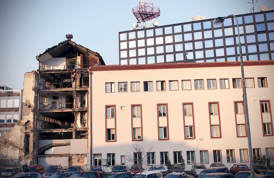 rts, zgrada, bombardovanje, nato