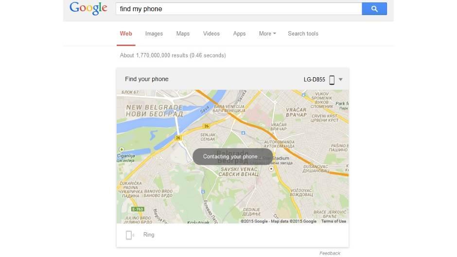 Kako pronaći zaturen ili izgubljen telefon