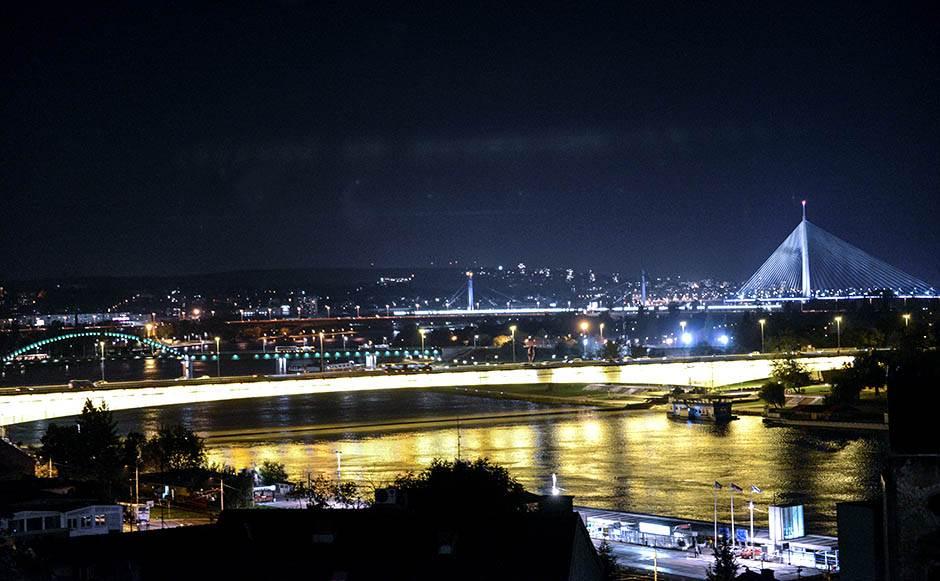 beograd, noć, reka, most, veče,