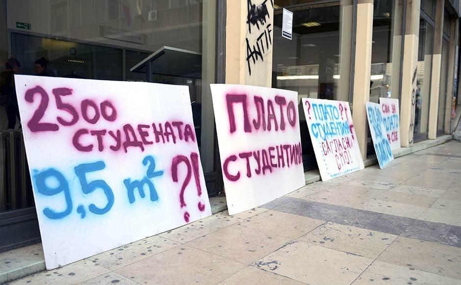 plato, studenti, protesti, filozofski, fakultet