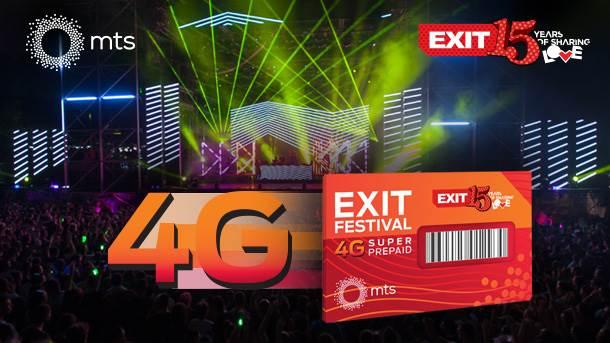Exit festival, mts, 4G, LTE