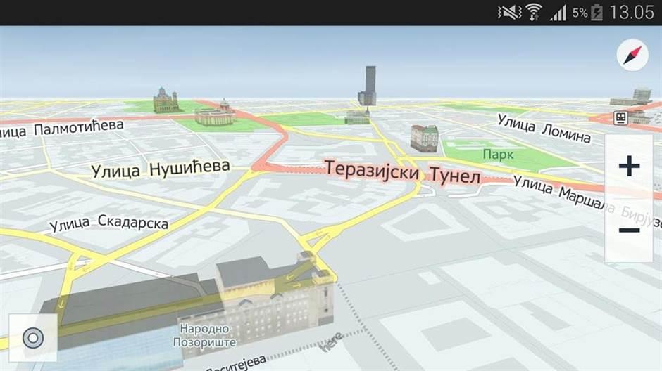 mapa za navigaciju srbije GPS mape Srbije poboljšane za Here Maps iOS, Android i Windows  mapa za navigaciju srbije