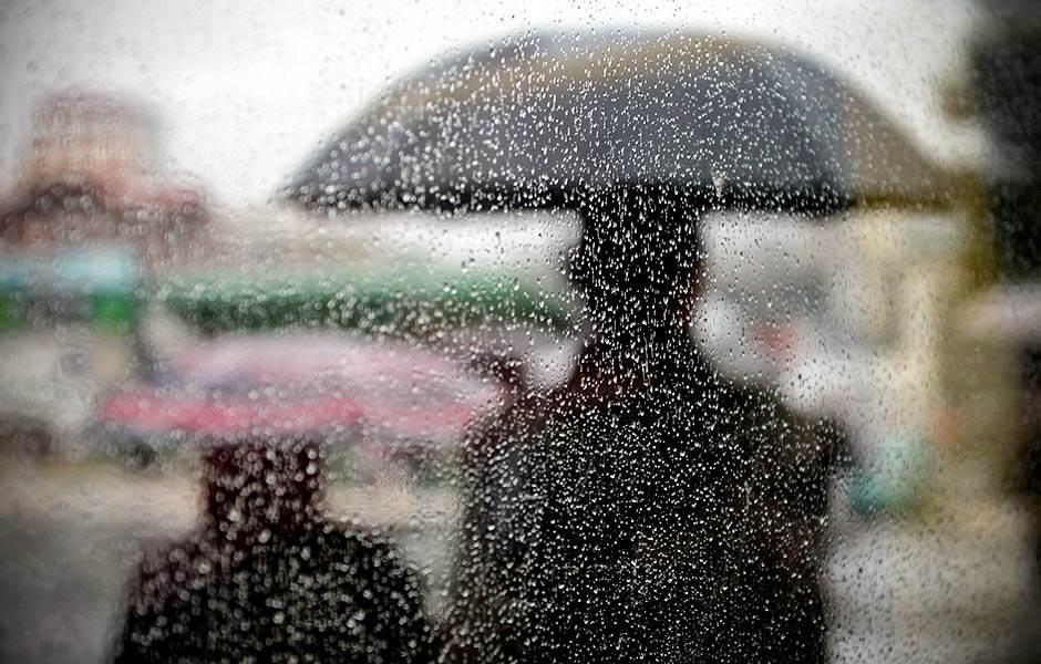 Kišno vreme u Beogradu.